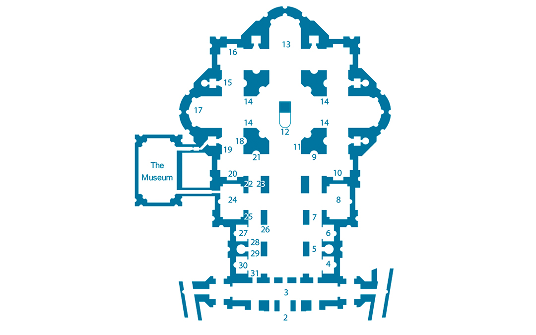 St. Peter's Basilica Map
