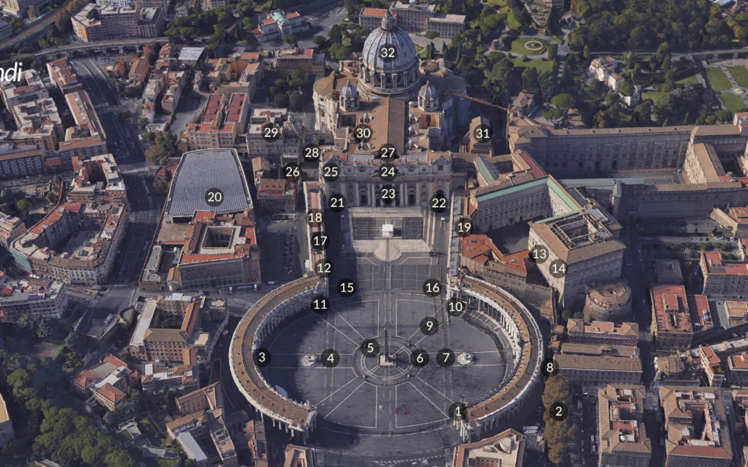 St. Peter's Square and Basilica Map