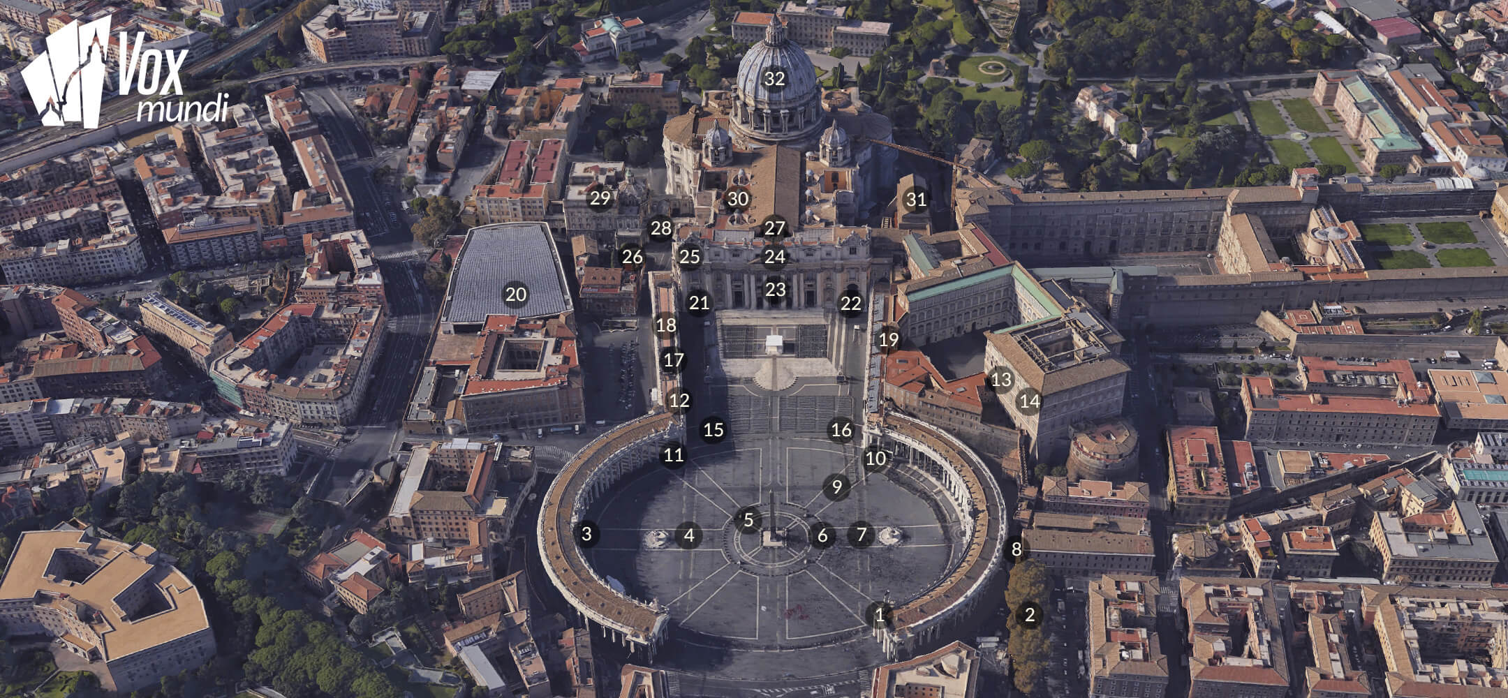 St. Peter's Basilica and Square Map