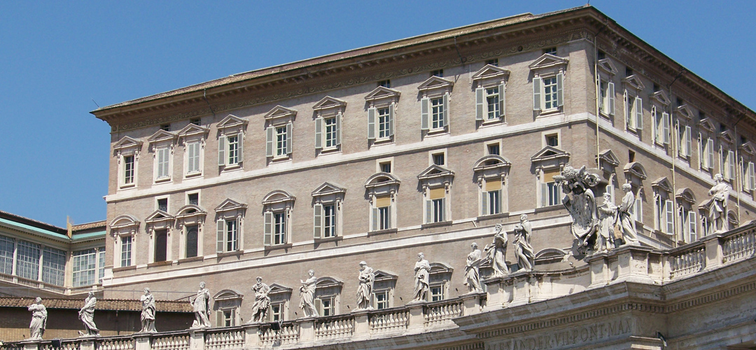 THE APOSTOLIC PALACE IN THE VATICAN